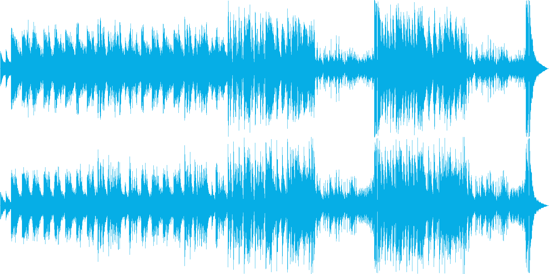 暗めのピアノソロのBGMです。の再生済みの波形