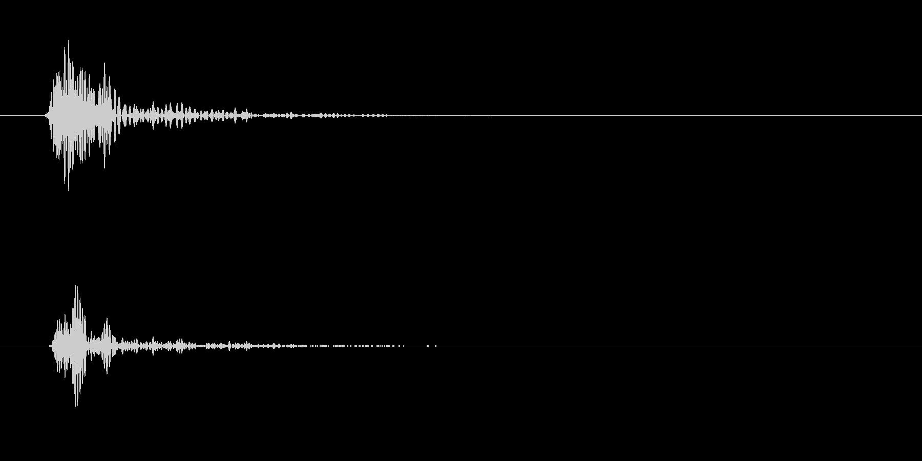 トン(木材を叩く音)の未再生の波形