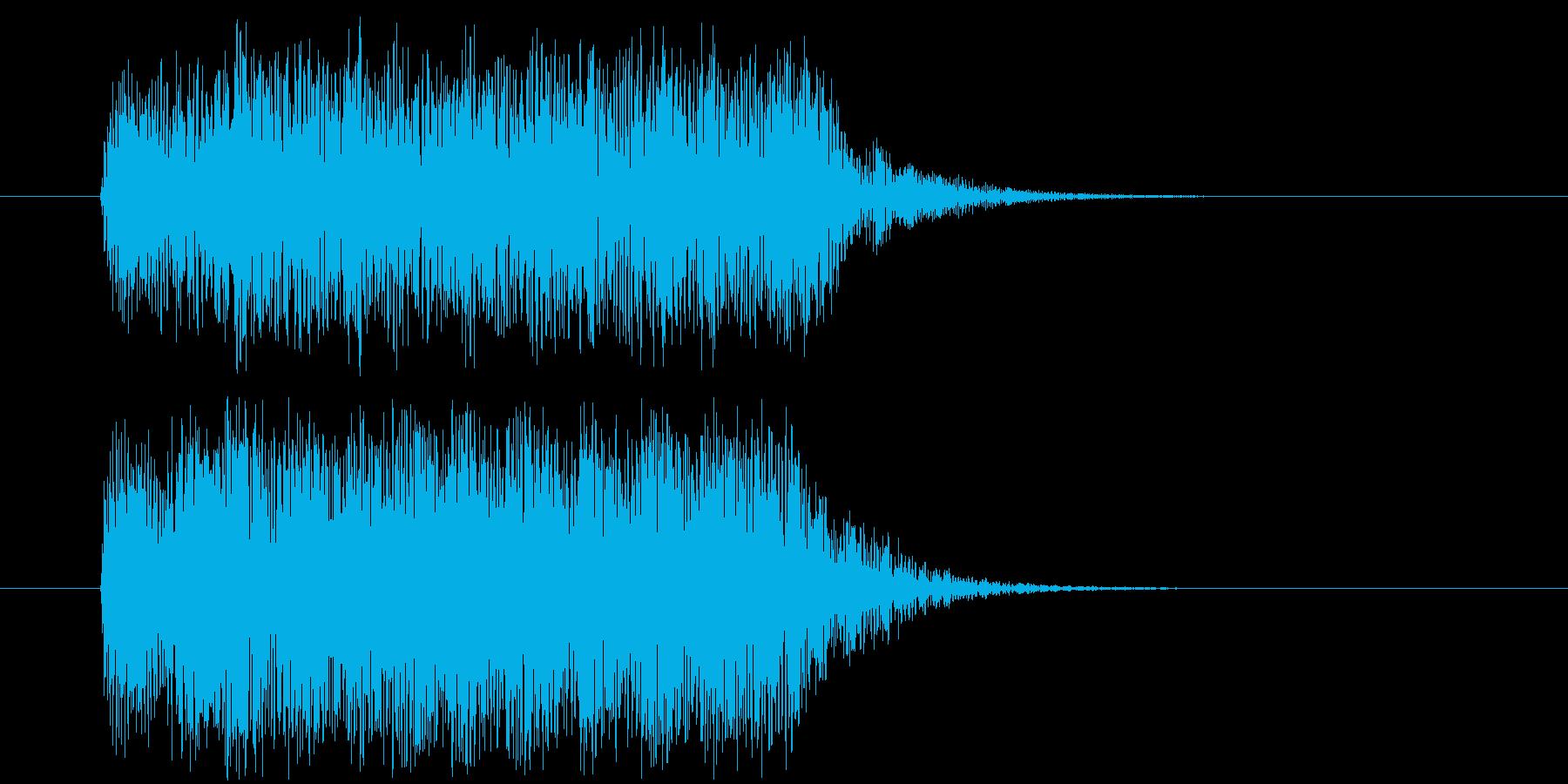 楽しそうだけど落ち着きのある着信音の再生済みの波形