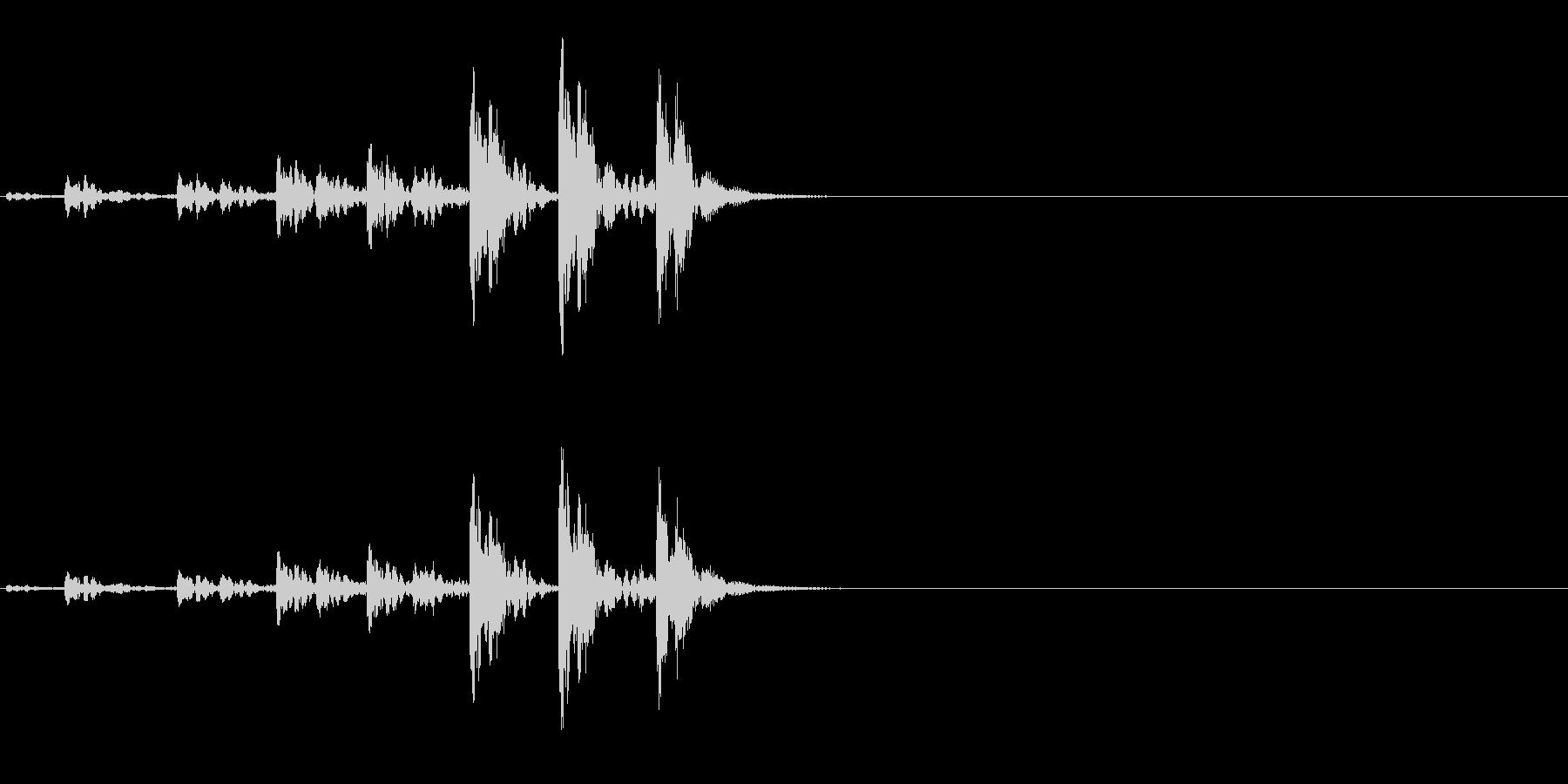 相撲などの触れ太鼓「大拍子」の連続音2の未再生の波形