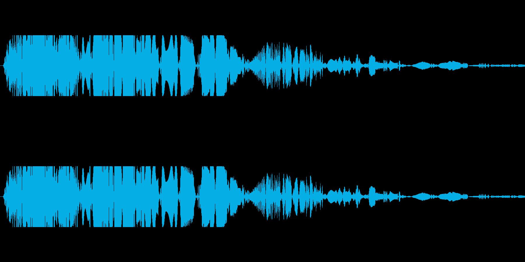 ドサッ(落下や倒れる衝撃音)07の再生済みの波形