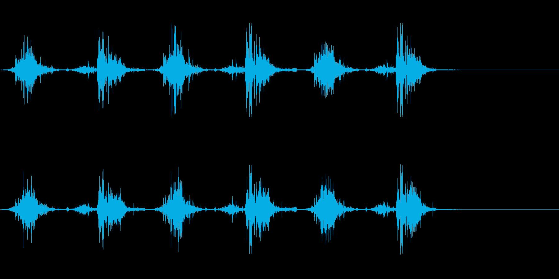 重みのある足音の再生済みの波形