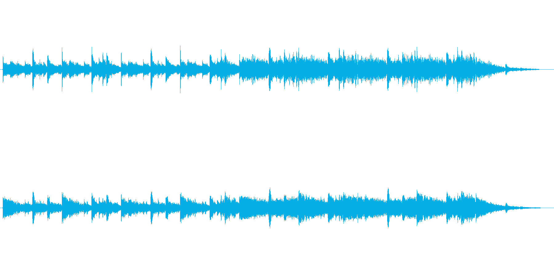 ゲームのゲームオーバー風な楽曲です。の再生済みの波形