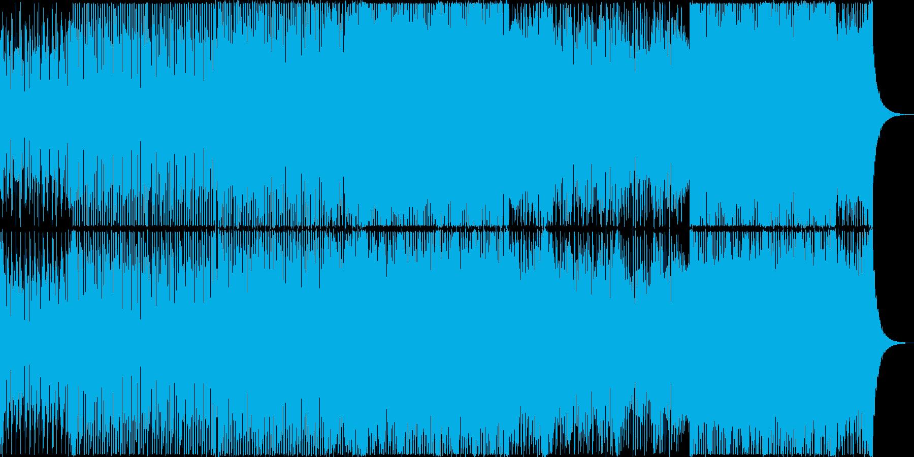 アップリフティングなデジタルロックの再生済みの波形