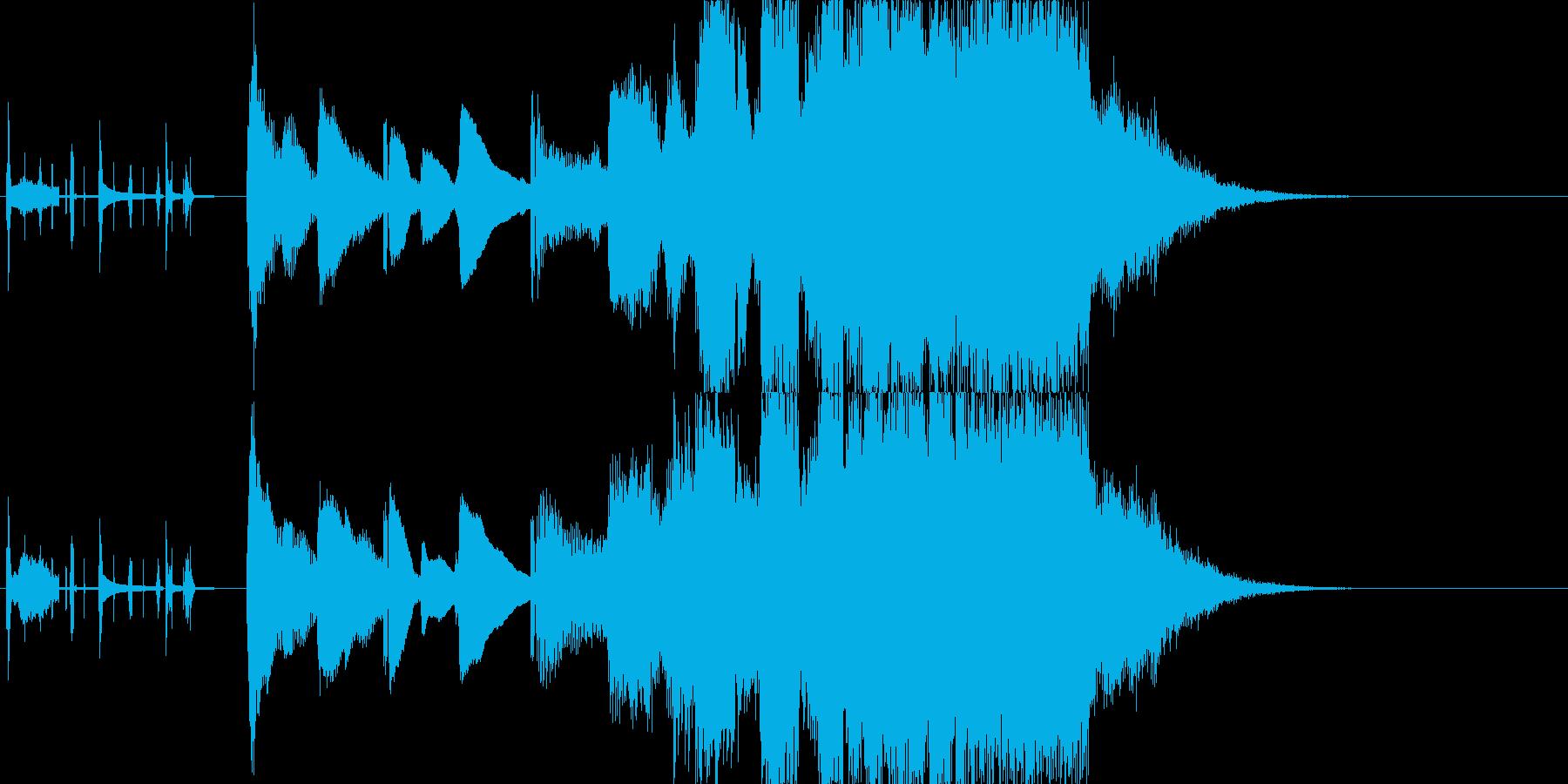 小さいサイズから大きいサイズへの再生済みの波形