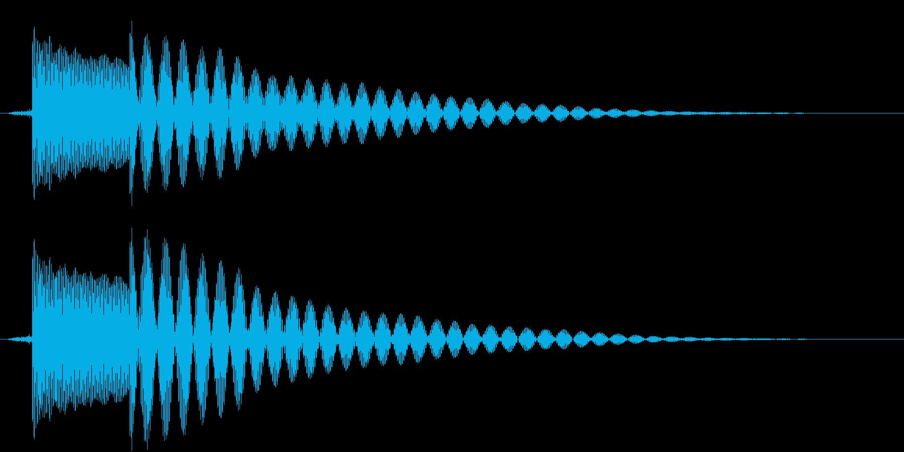 ポテンの再生済みの波形
