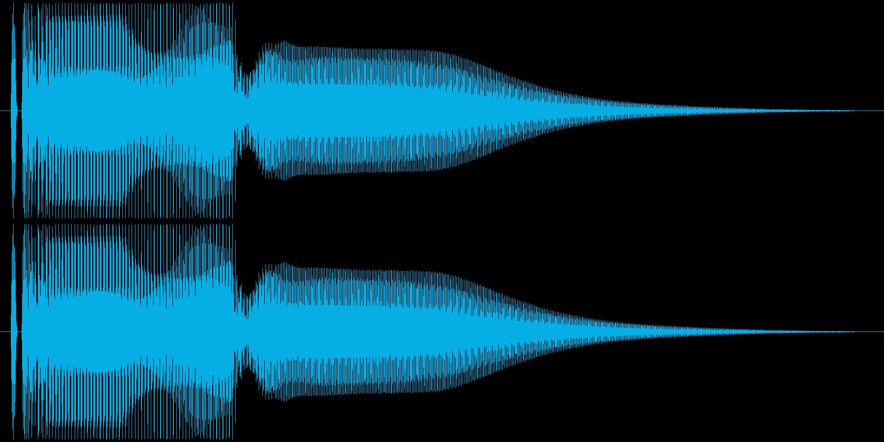 ビーヨーン(びっくり箱などのSE)の再生済みの波形