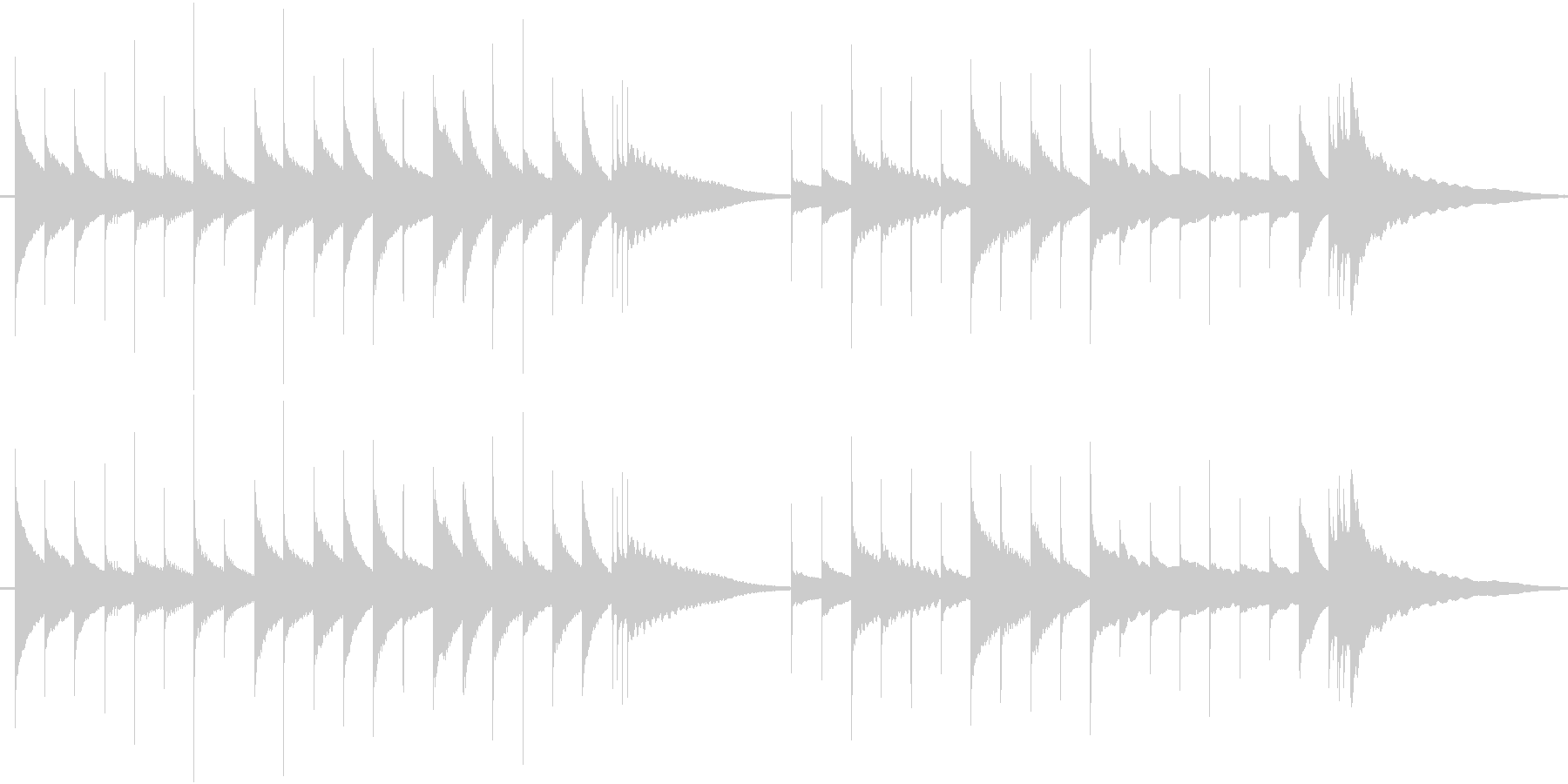 ジングル:古めかしいオルゴールの優しい曲の未再生の波形
