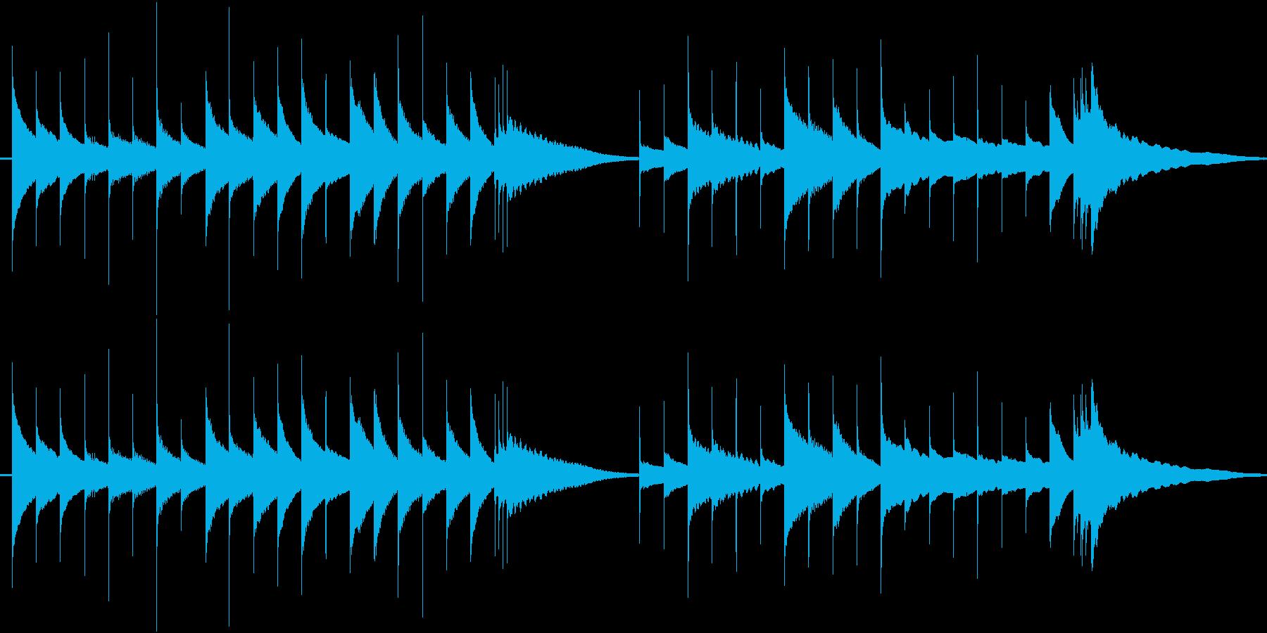 ジングル:古めかしいオルゴールの優しい曲の再生済みの波形