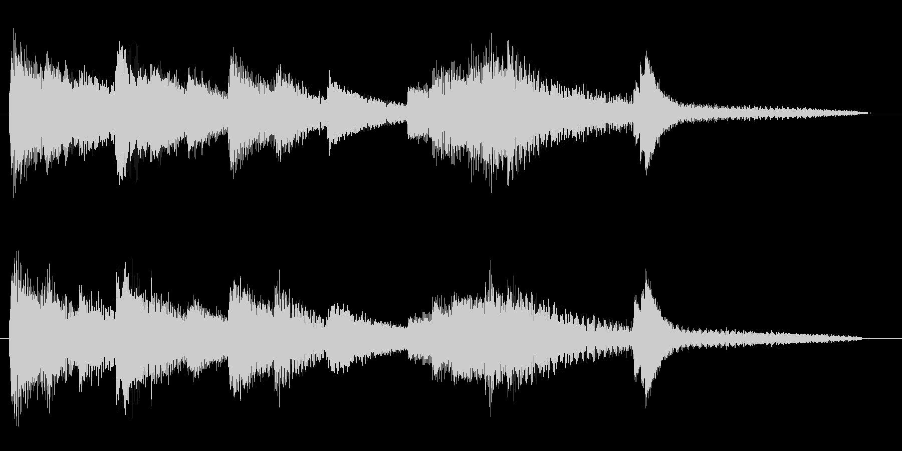 ジャズピアノのショートジングルの未再生の波形