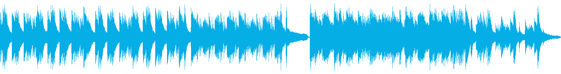 静謐な和風曲・ピアノソロ(ループ)の再生済みの波形