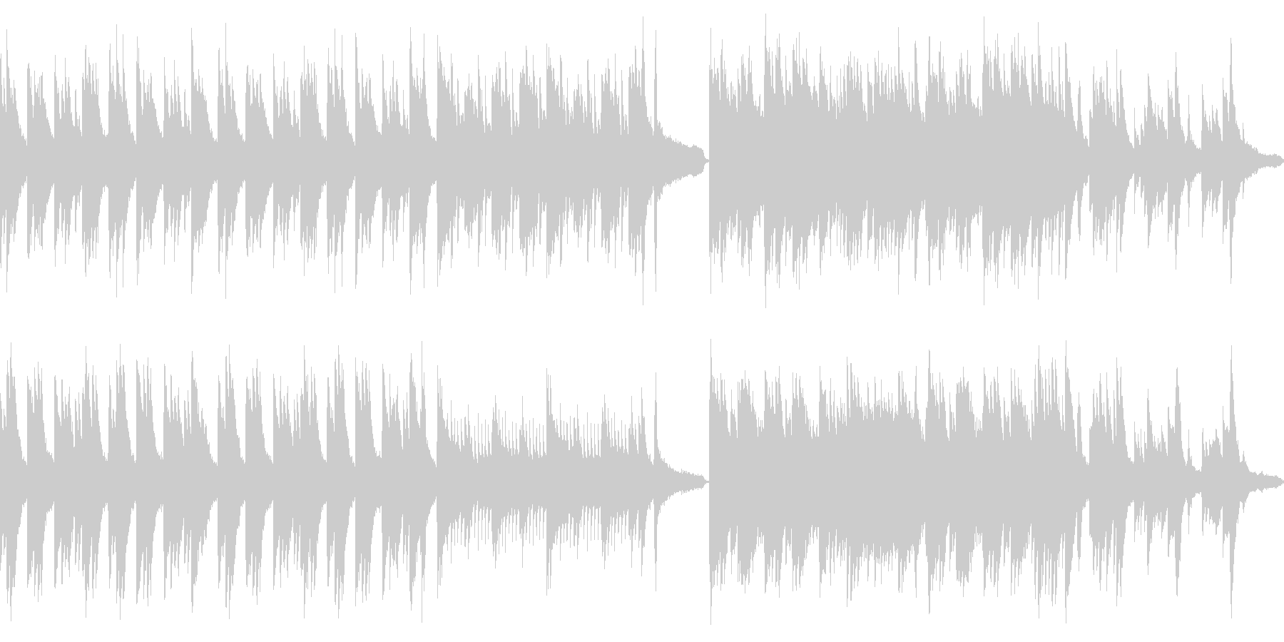 静謐な和風曲・ピアノソロ(ループ)の未再生の波形