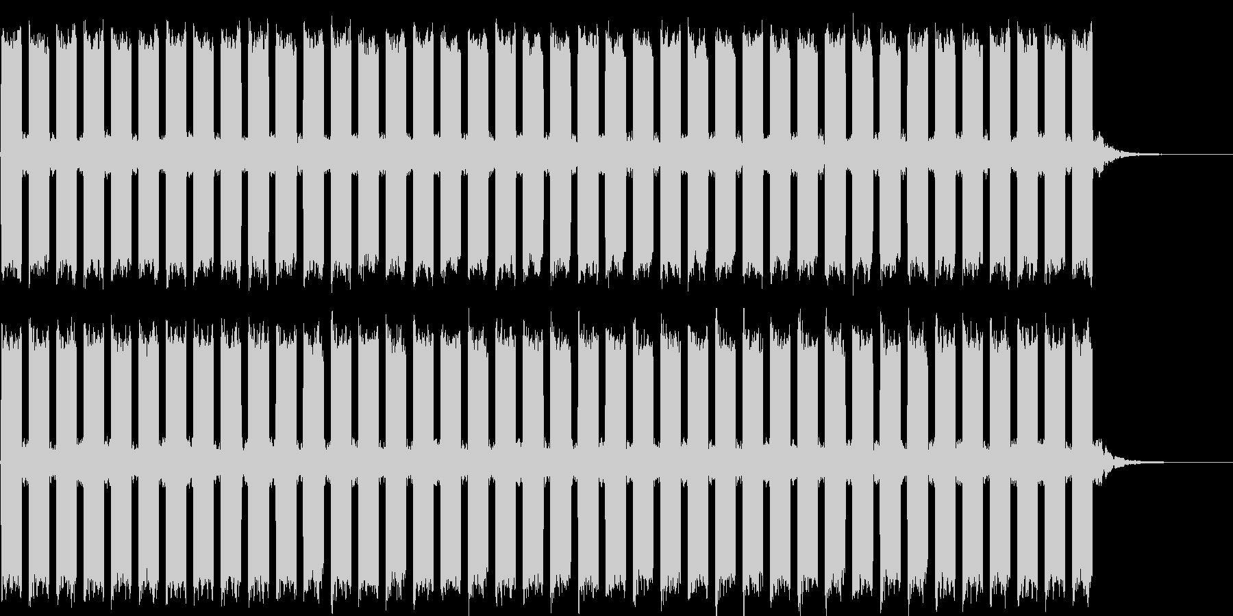 シンプルな警報音の未再生の波形