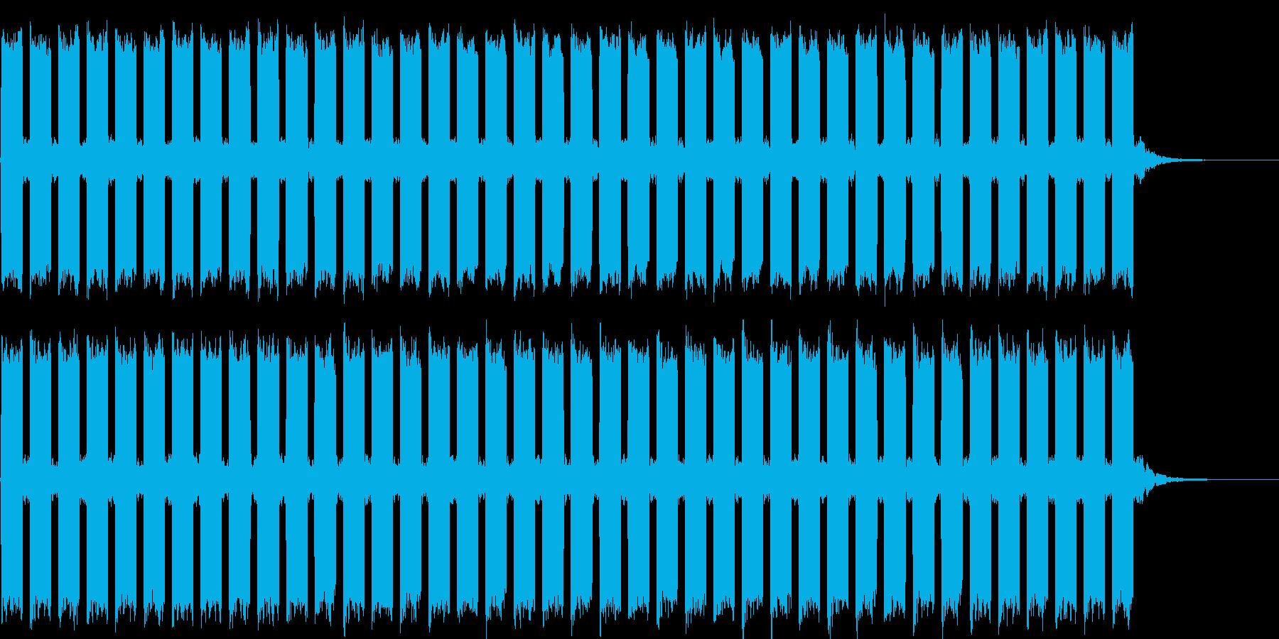 シンプルな警報音の再生済みの波形
