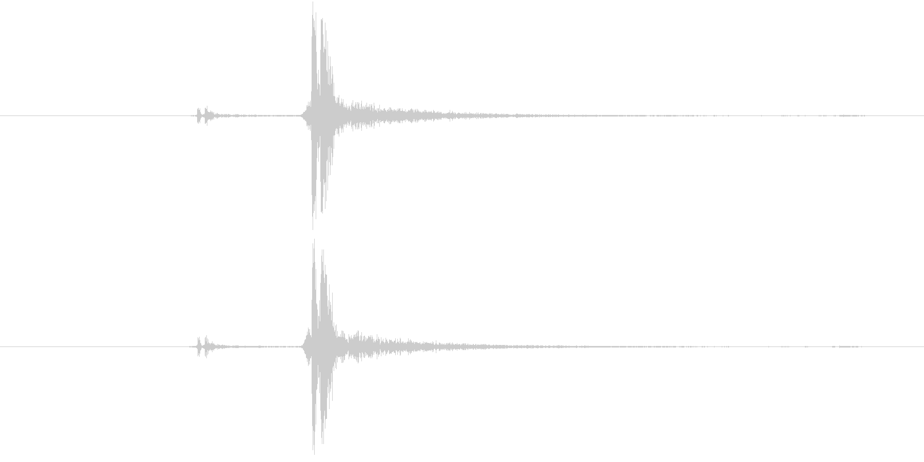 カチッ(装着、はめ込む、ピッチ高め)の未再生の波形