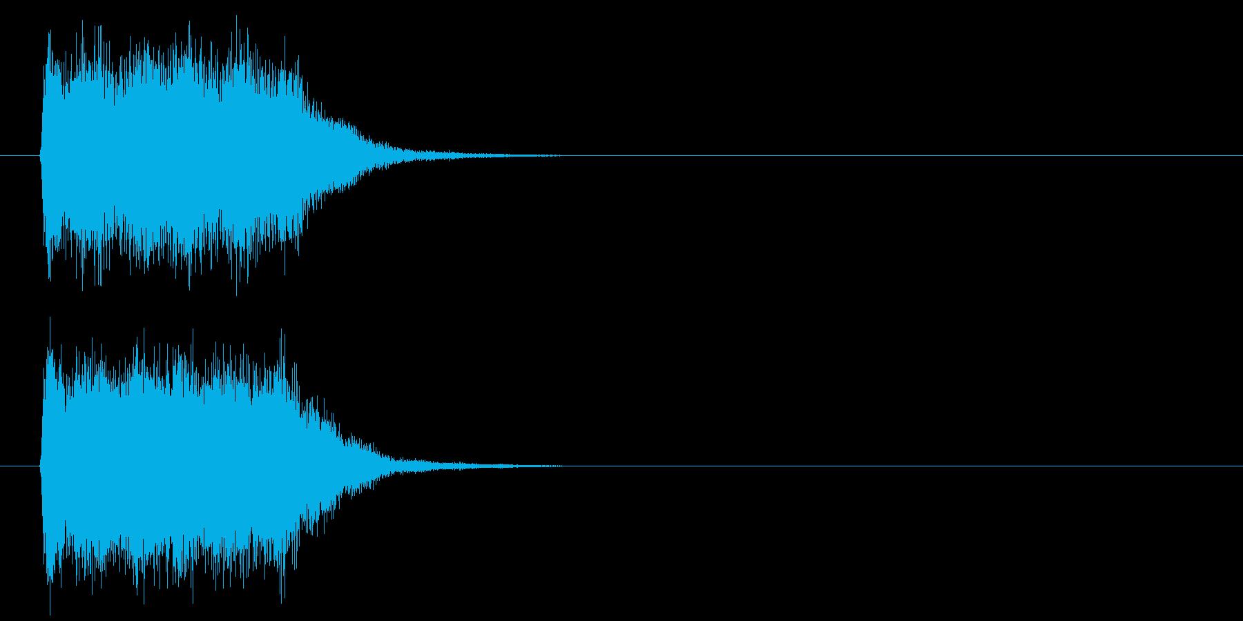 ビーム攻撃の再生済みの波形