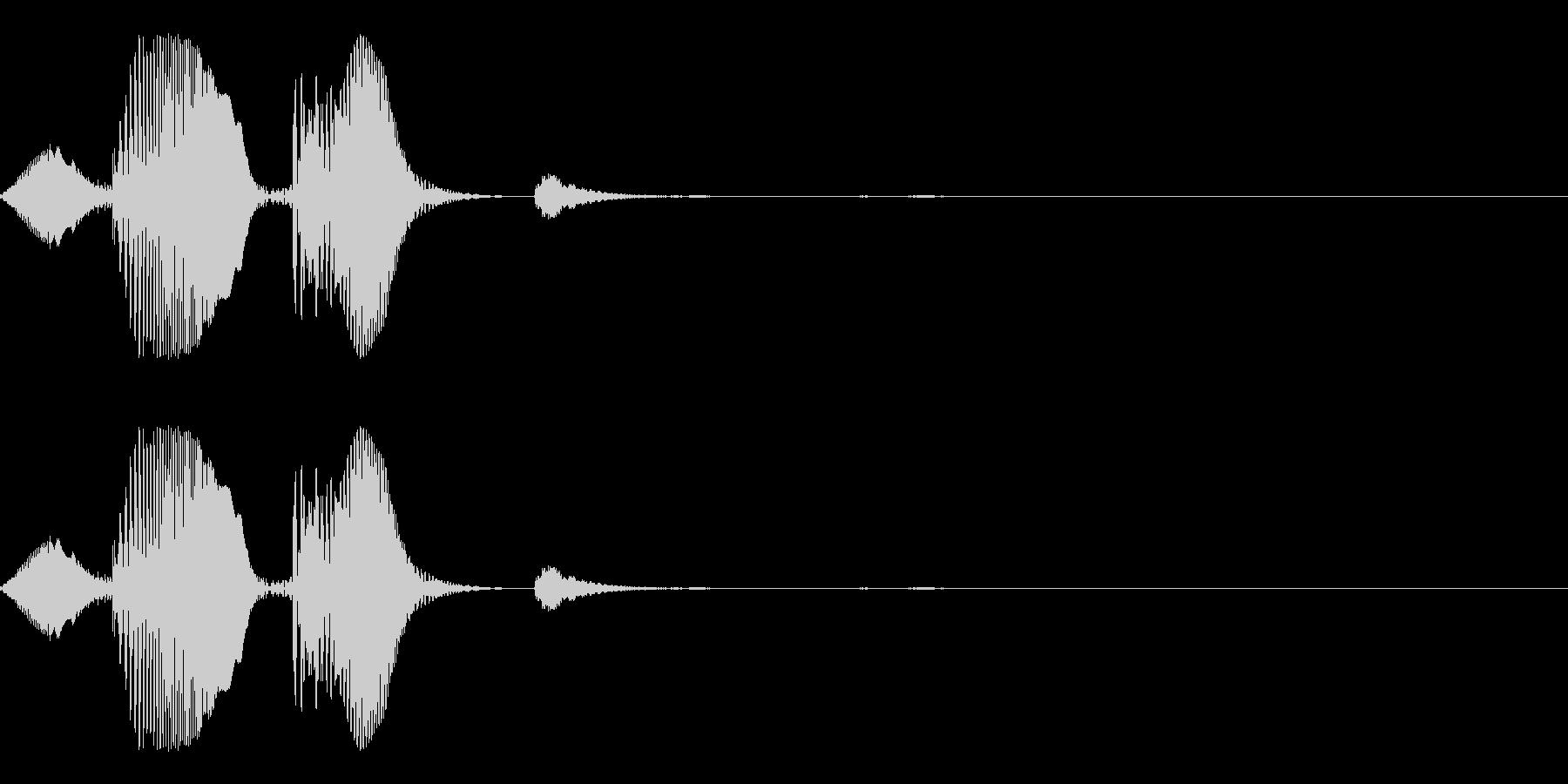 キャンセル等のイメージのシステム効果音…の未再生の波形