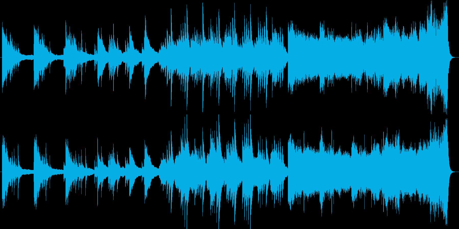 ピアノとストリングスの悲しい曲の再生済みの波形