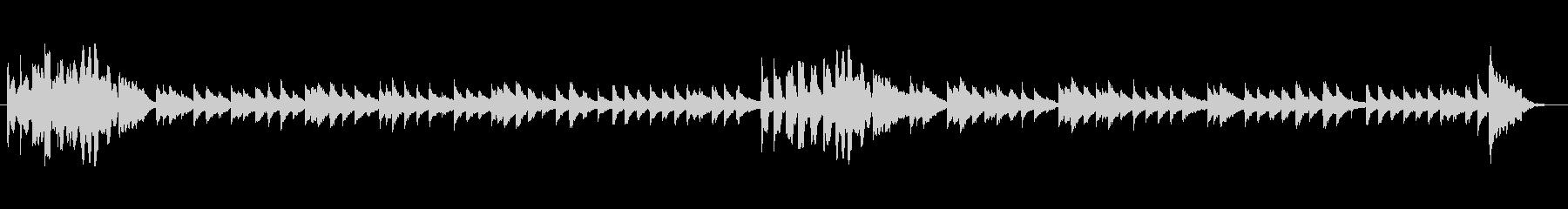 お子さんや知育向けのほのぼのシンプル音楽の未再生の波形