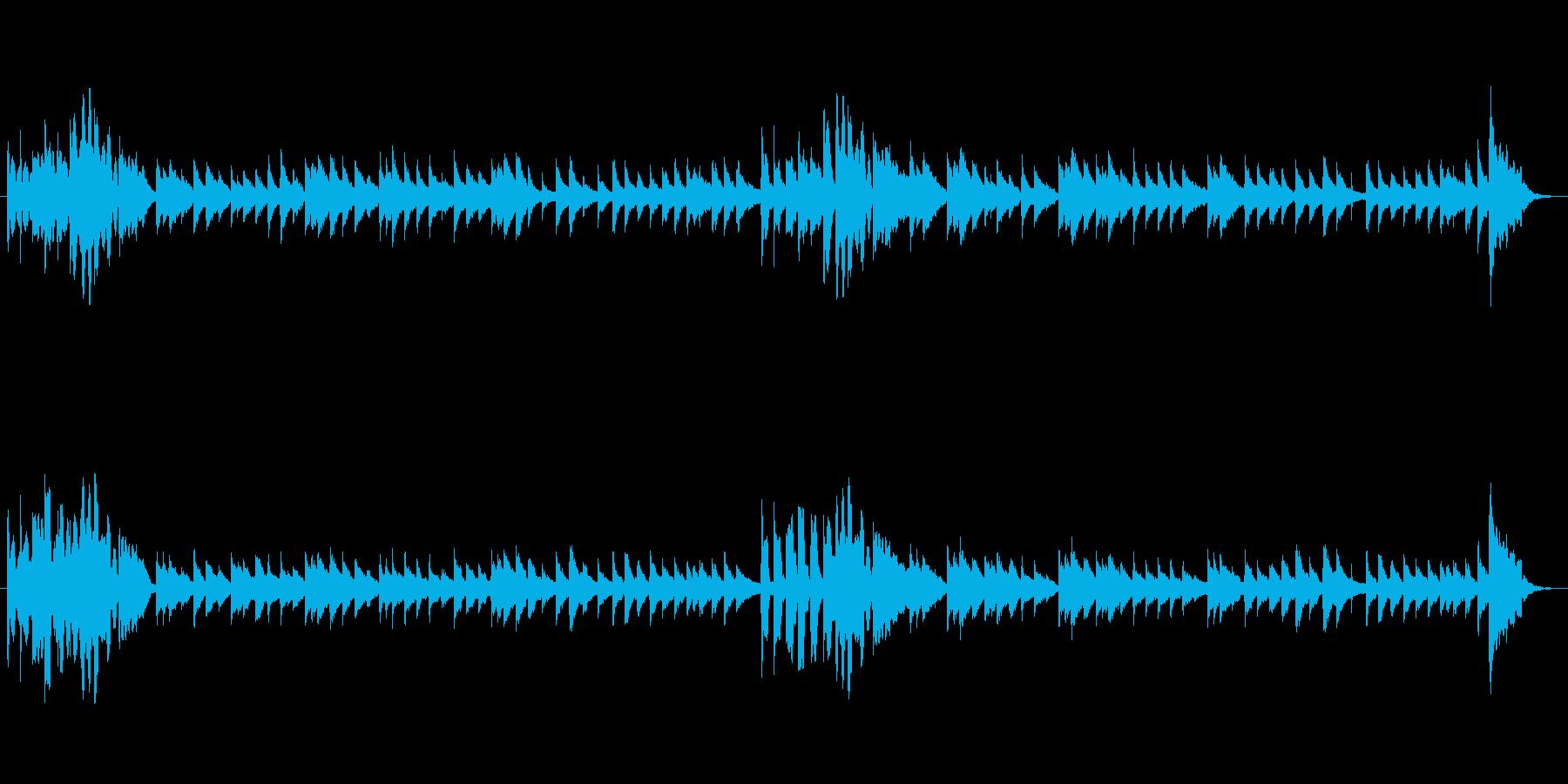 お子さんや知育向けのほのぼのシンプル音楽の再生済みの波形