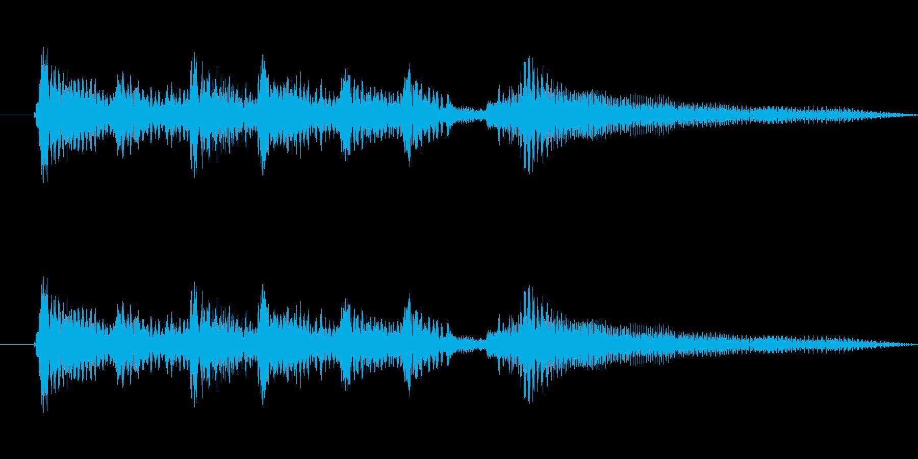 アコーステックギター5sの再生済みの波形