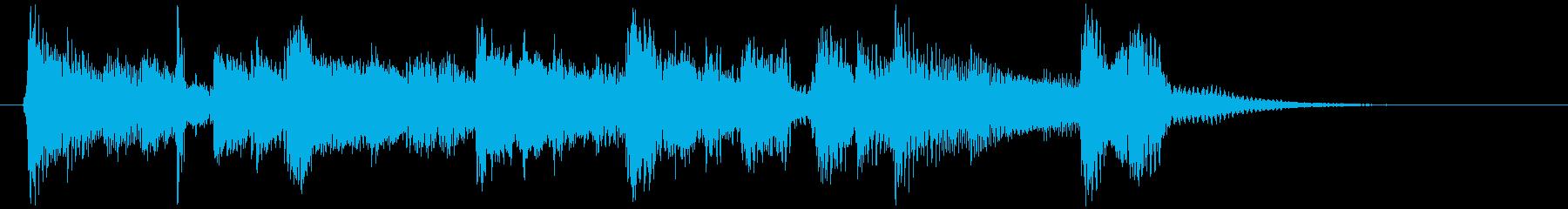 アコギによる爽やかなサウンドロゴの再生済みの波形