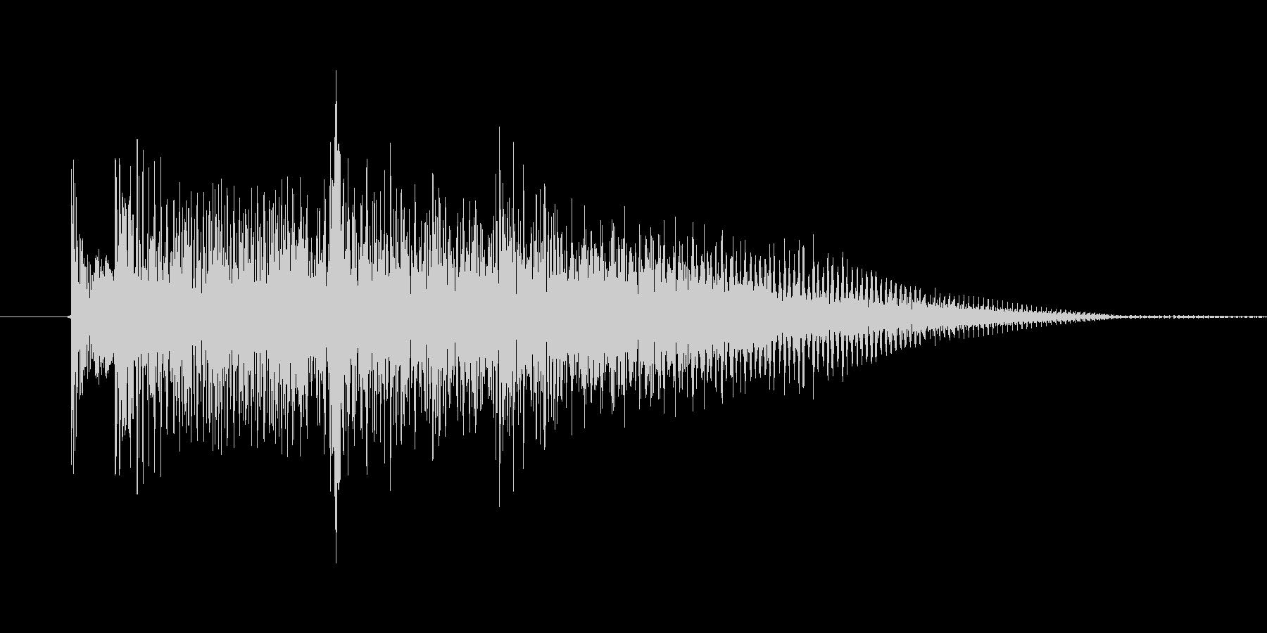 インドな効果音の未再生の波形