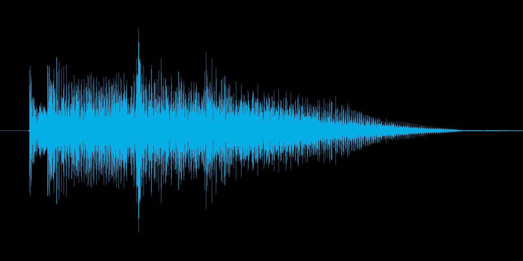 インドな効果音の再生済みの波形