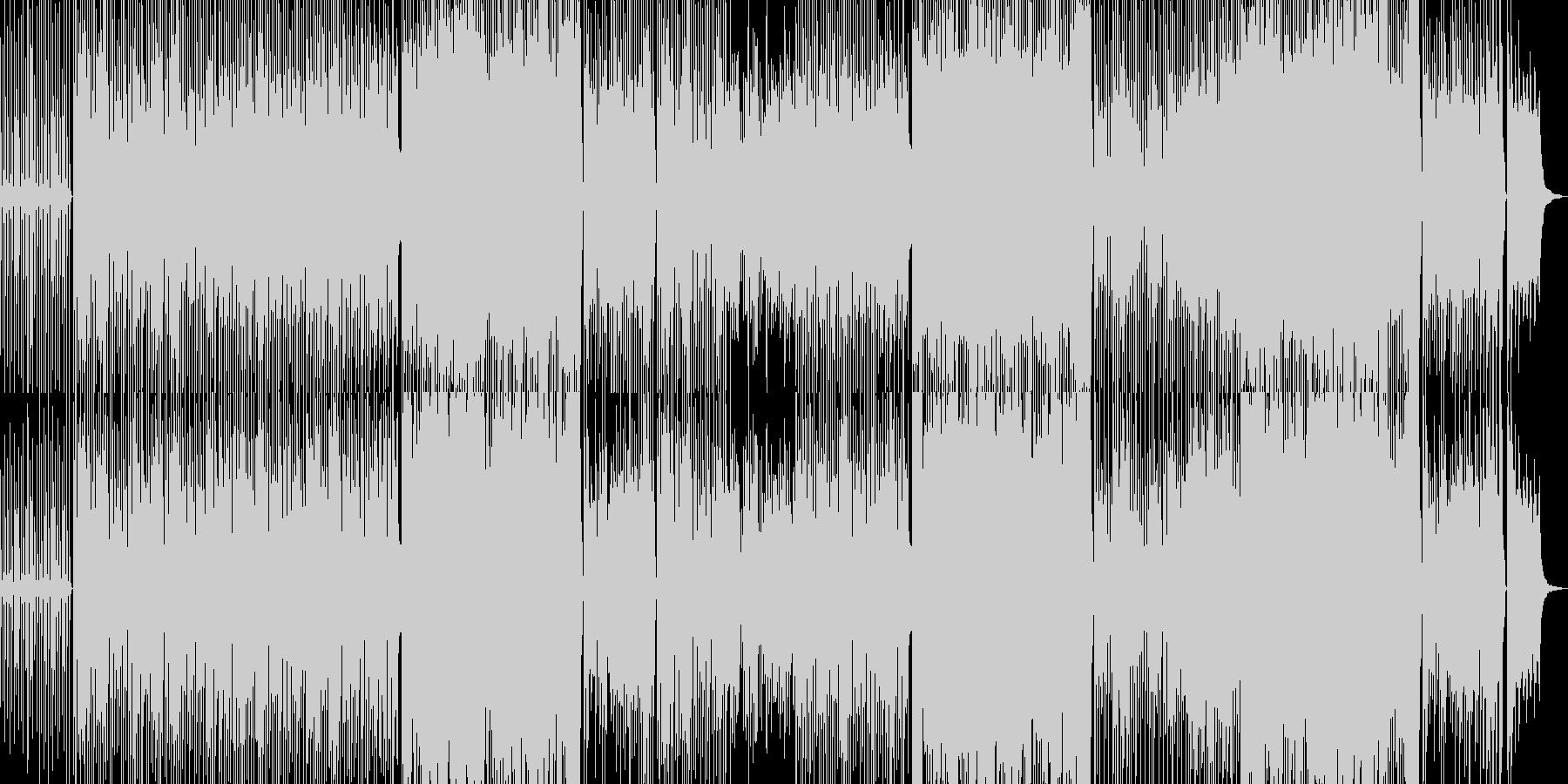 軽いタッチの和風テクノ可愛い笛琴BGMの未再生の波形
