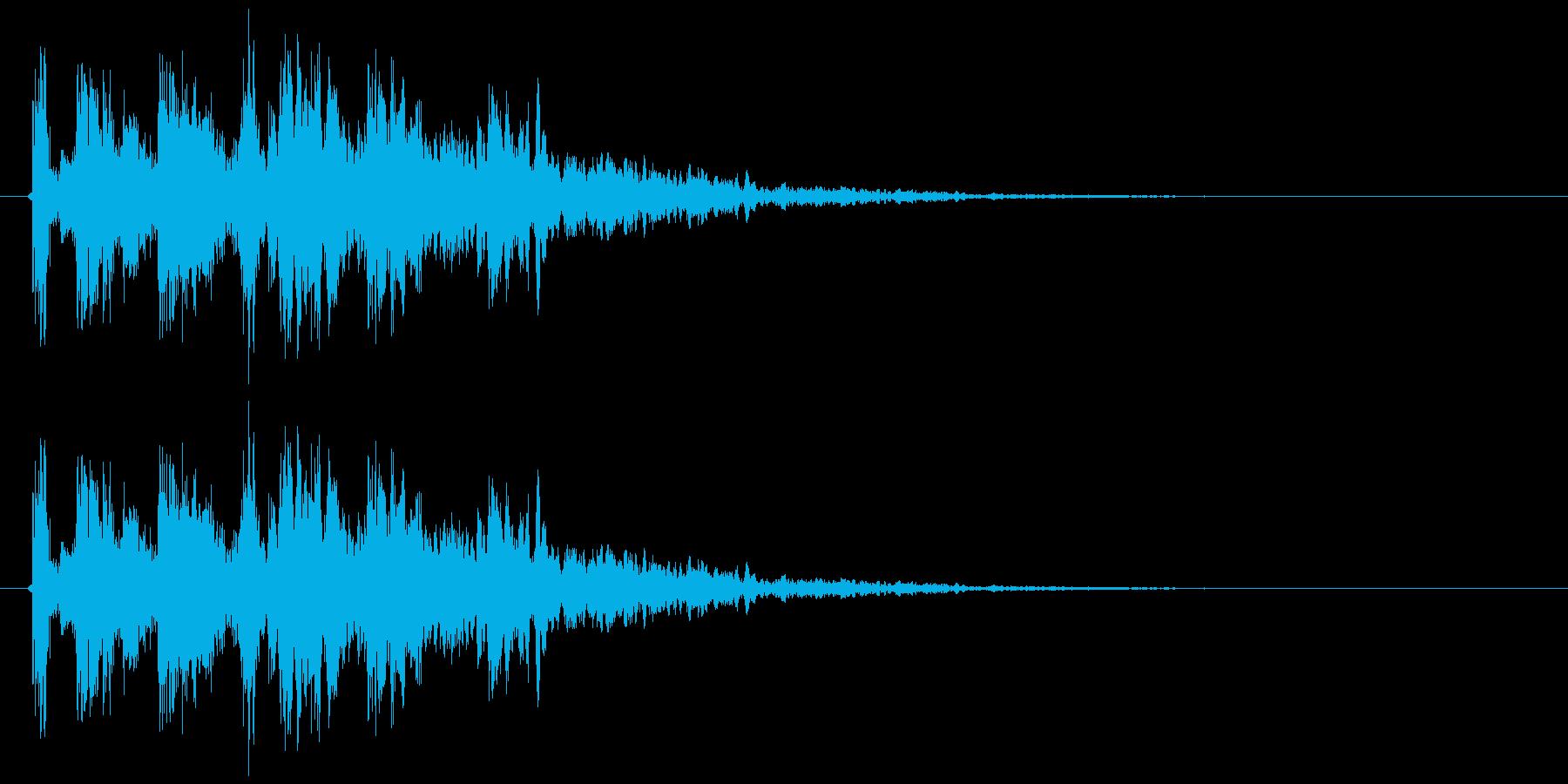 コイン獲得音(リアル系)の再生済みの波形