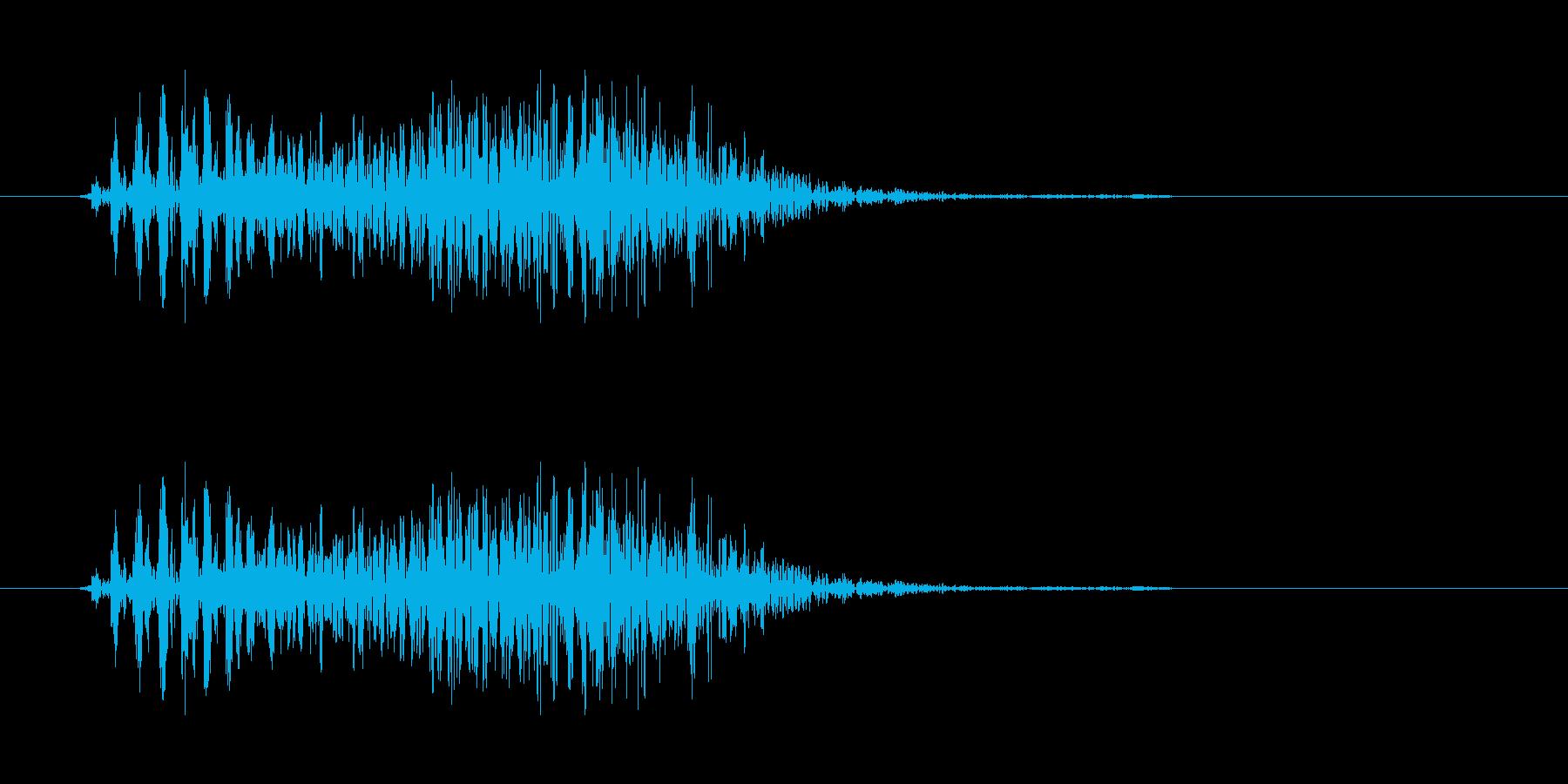 ゾンビの発声に 6の再生済みの波形