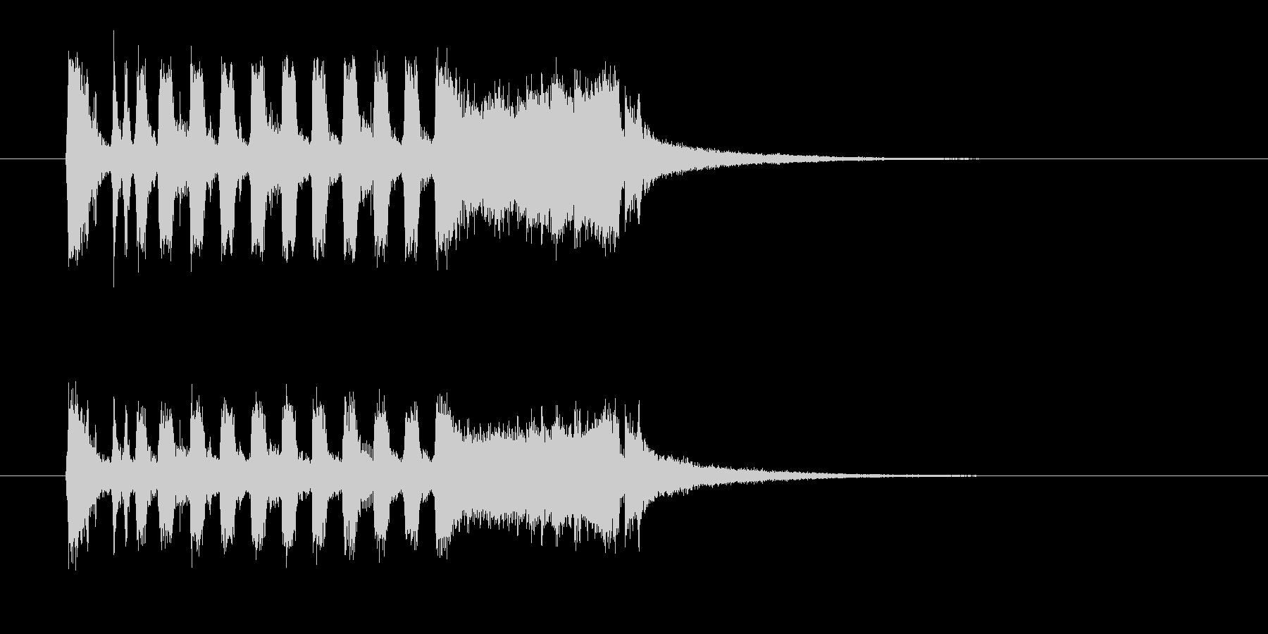 明るく勢いのある管楽器ファンファーレの未再生の波形