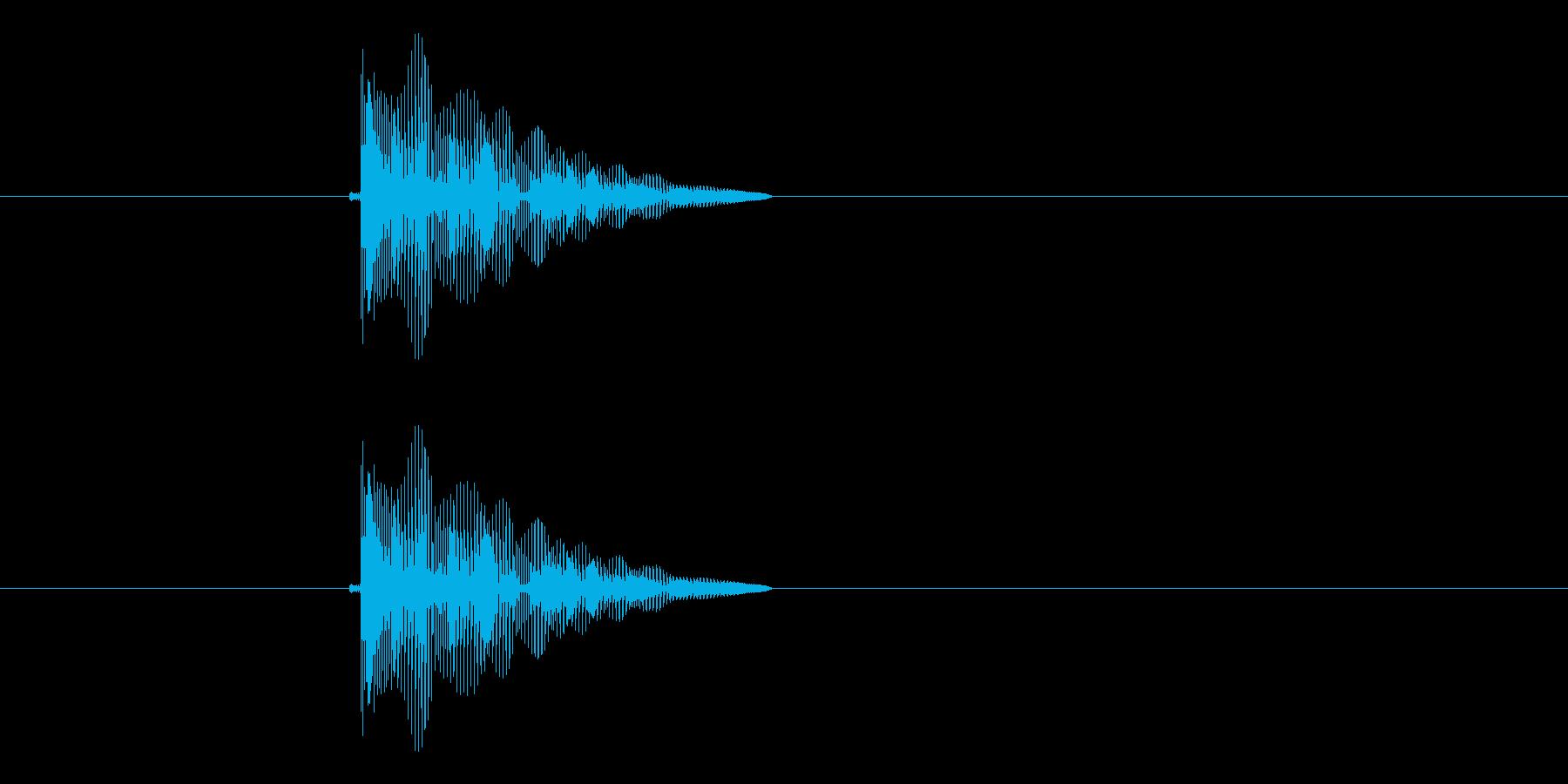 ピヨヨーン(クリック音、飛び跳ね音)の再生済みの波形