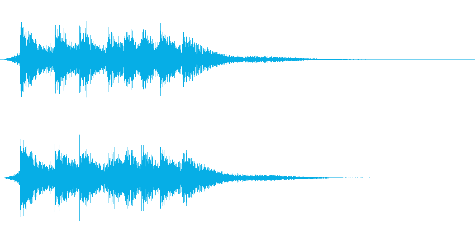 ピロリ(アプリ、ゲーム)の再生済みの波形