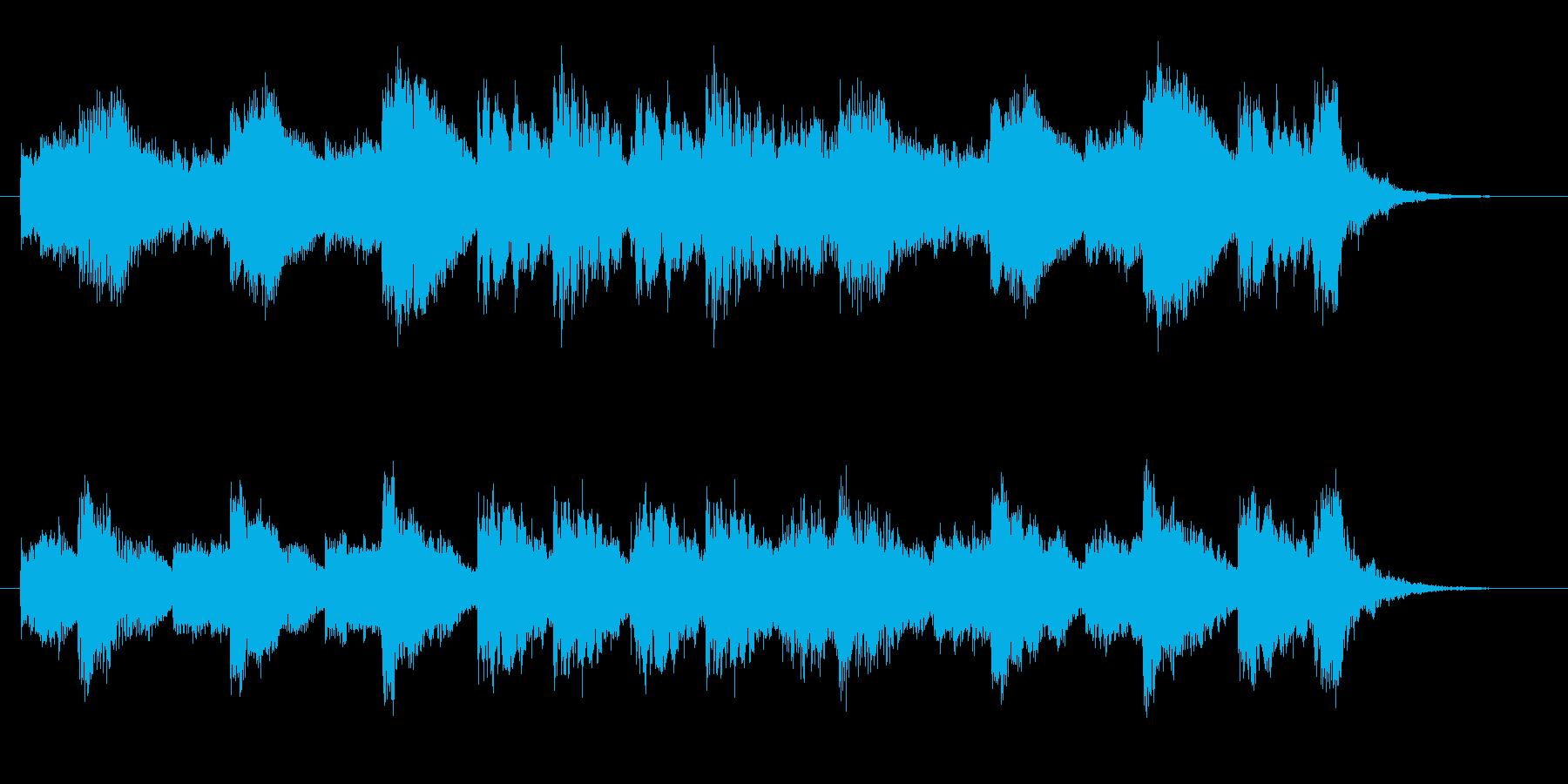 静かでゆったりとした幻想曲の再生済みの波形