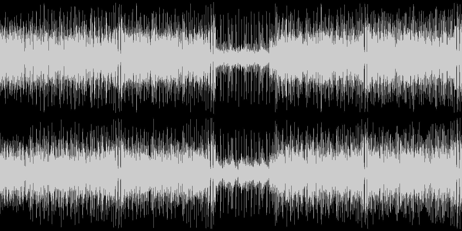 クラビネット主体のファンキーなブルースの未再生の波形