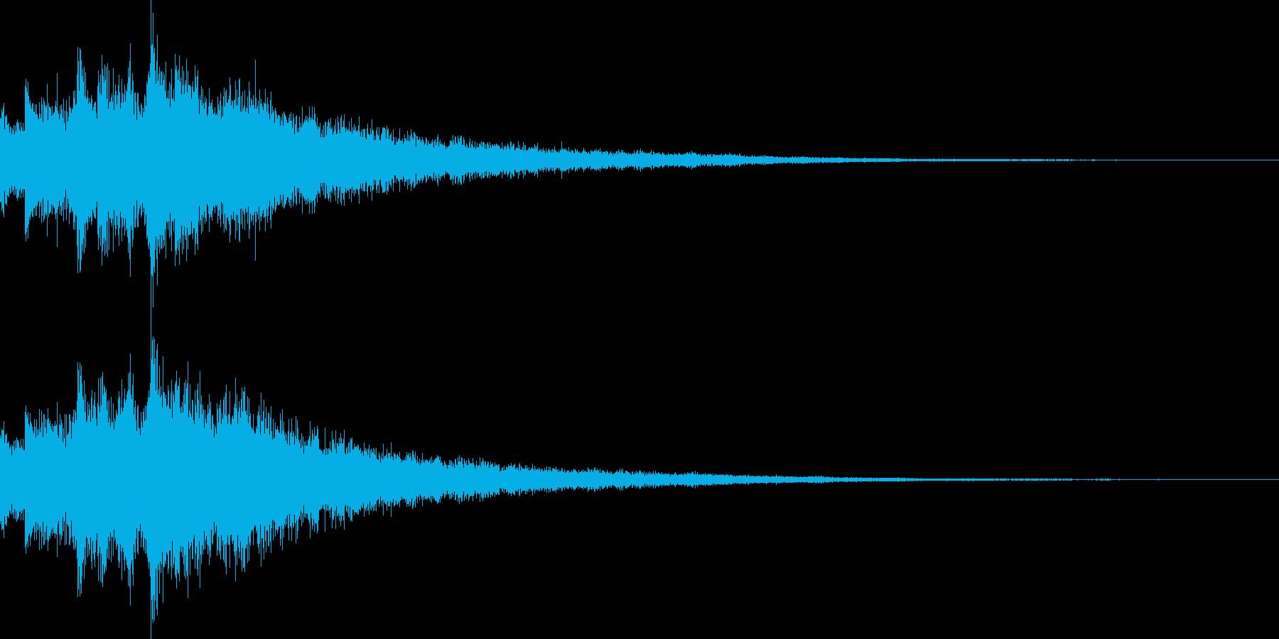 余韻長めのキラキラ音です。開始音などにの再生済みの波形