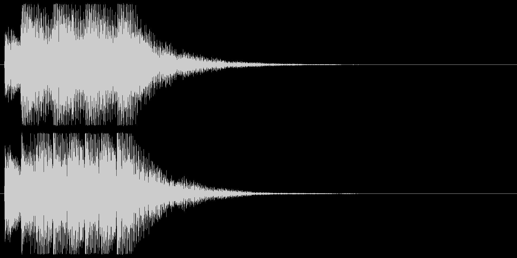 ピアノのアラート 危険 警告 注意 警戒の未再生の波形