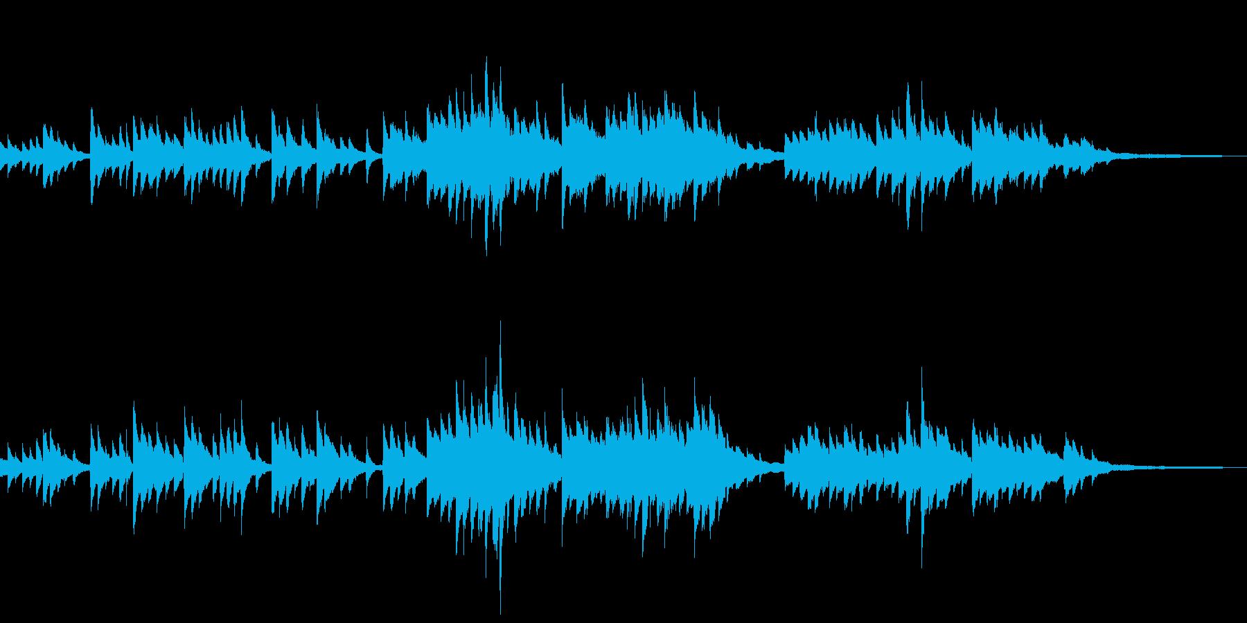 語り、回想シーンに合うしっとりピアノの再生済みの波形