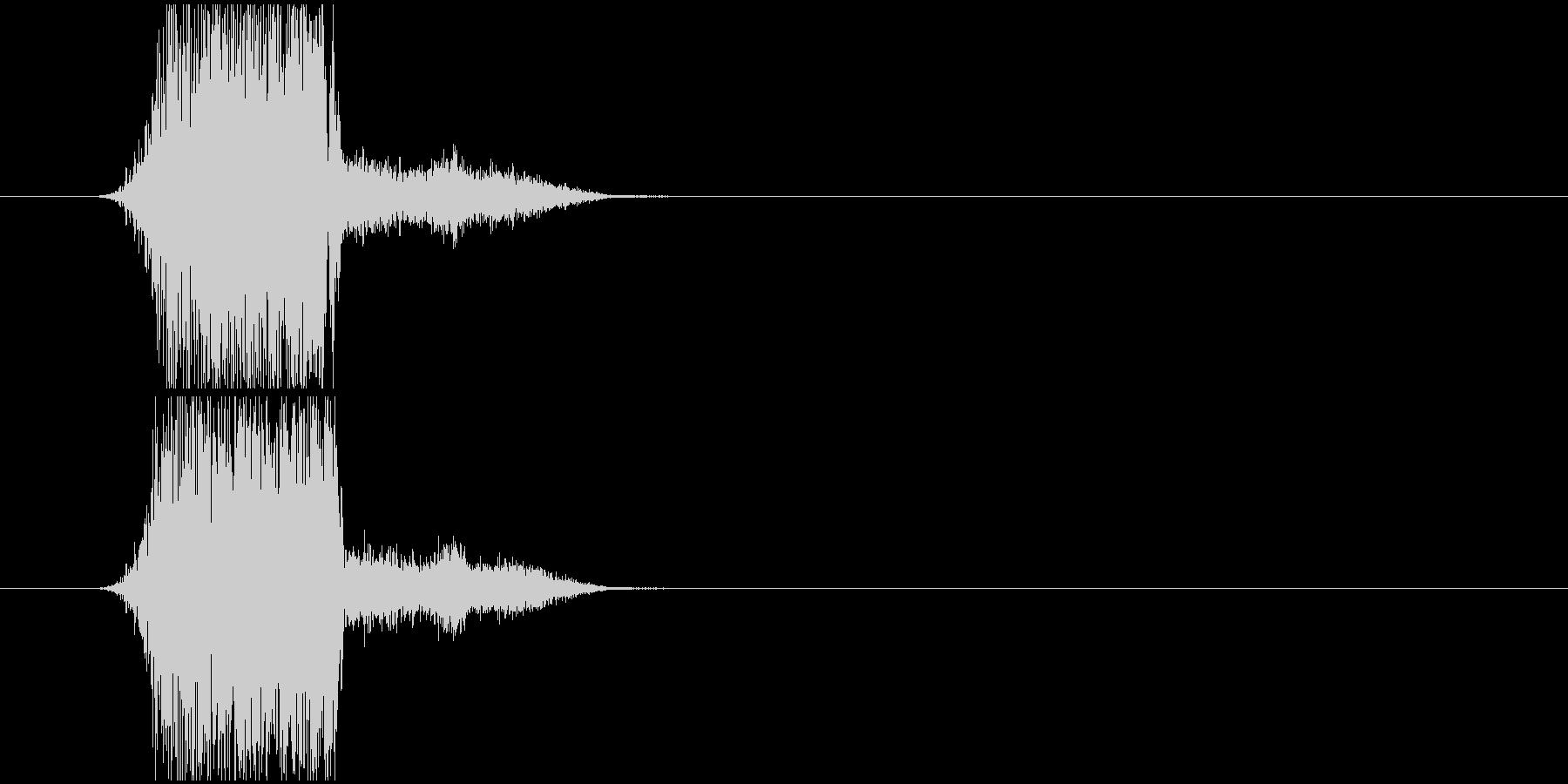 かわいい投げる音の未再生の波形