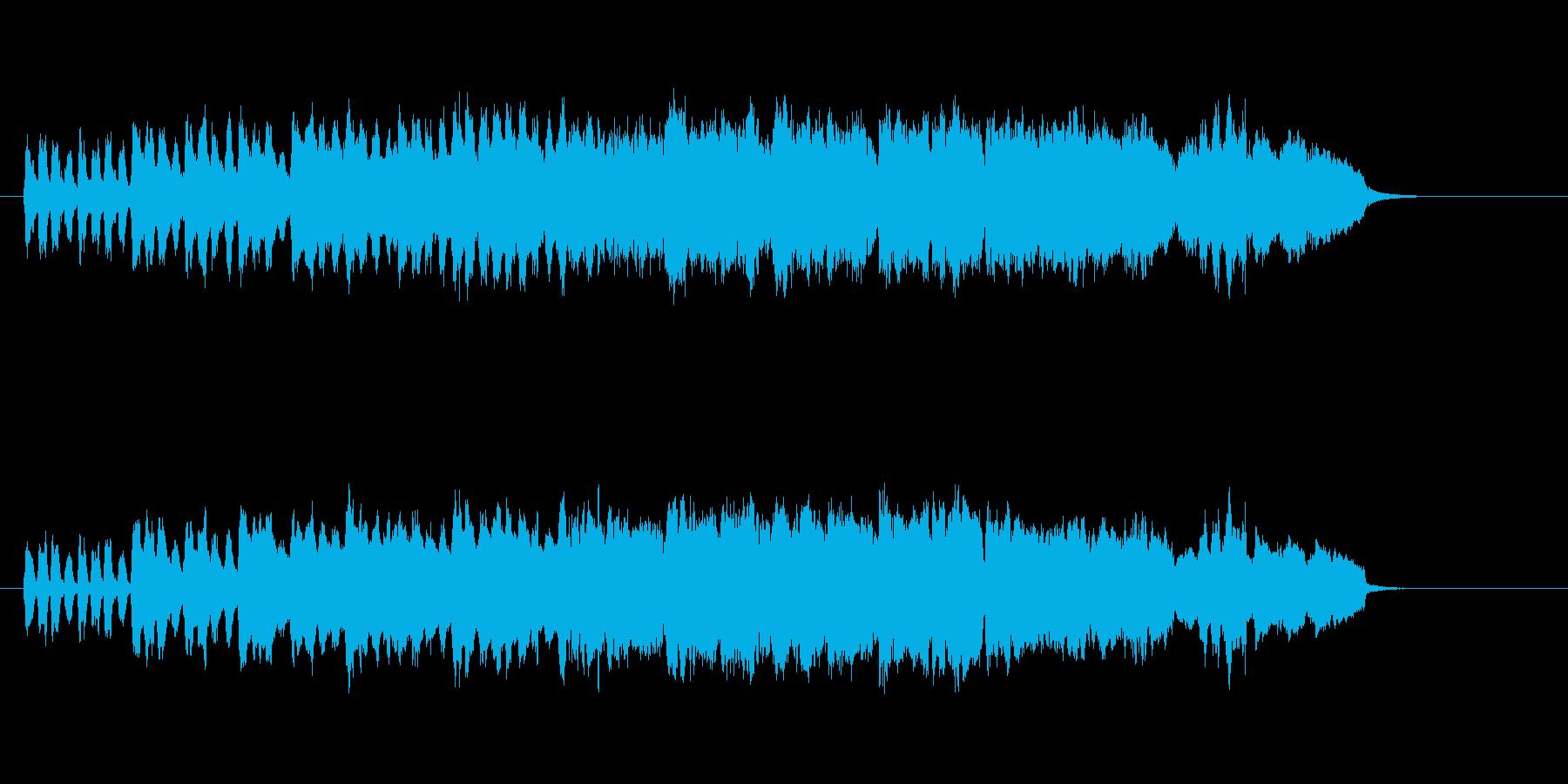しなやかなセミクラ風の曲の再生済みの波形