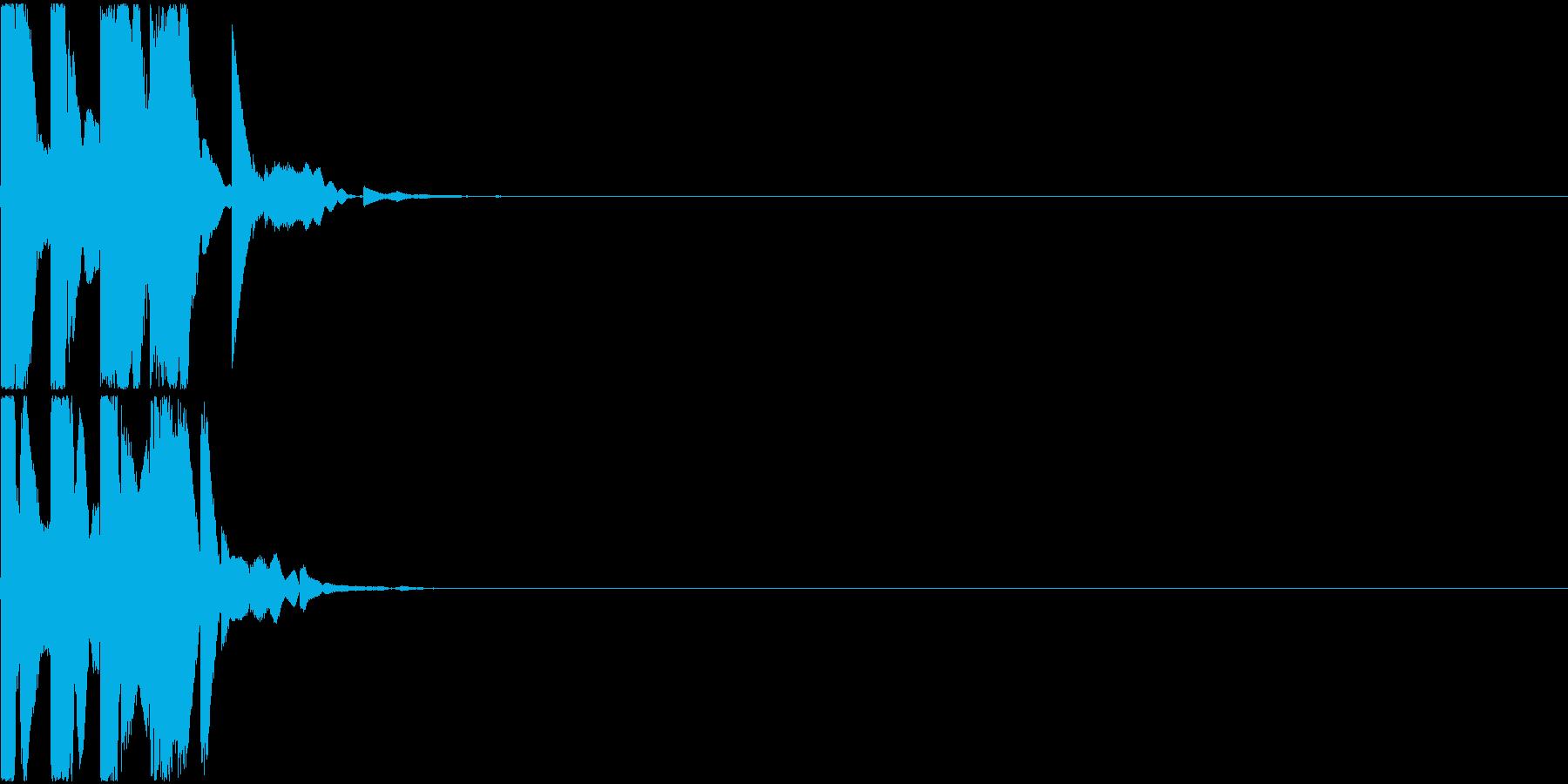 ピロリン(決定音)の再生済みの波形