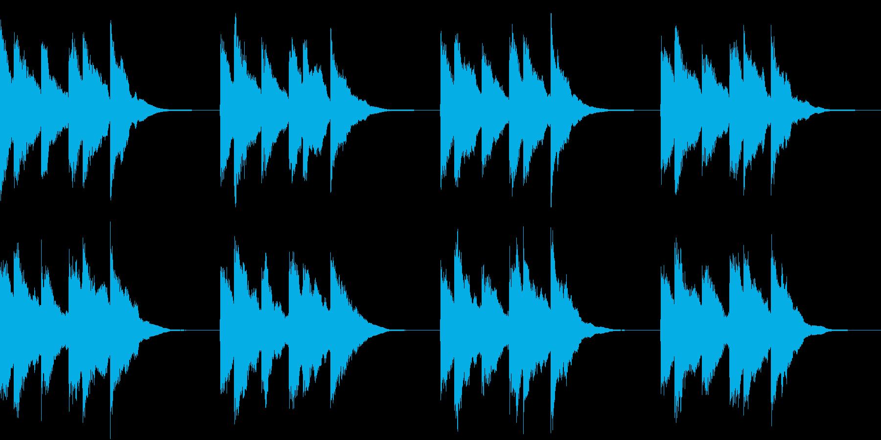 シンプル ベル 着信音 チャイム A20の再生済みの波形