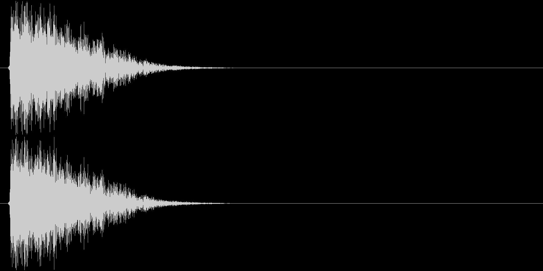 テューン↓(シューティング、レデュース)の未再生の波形