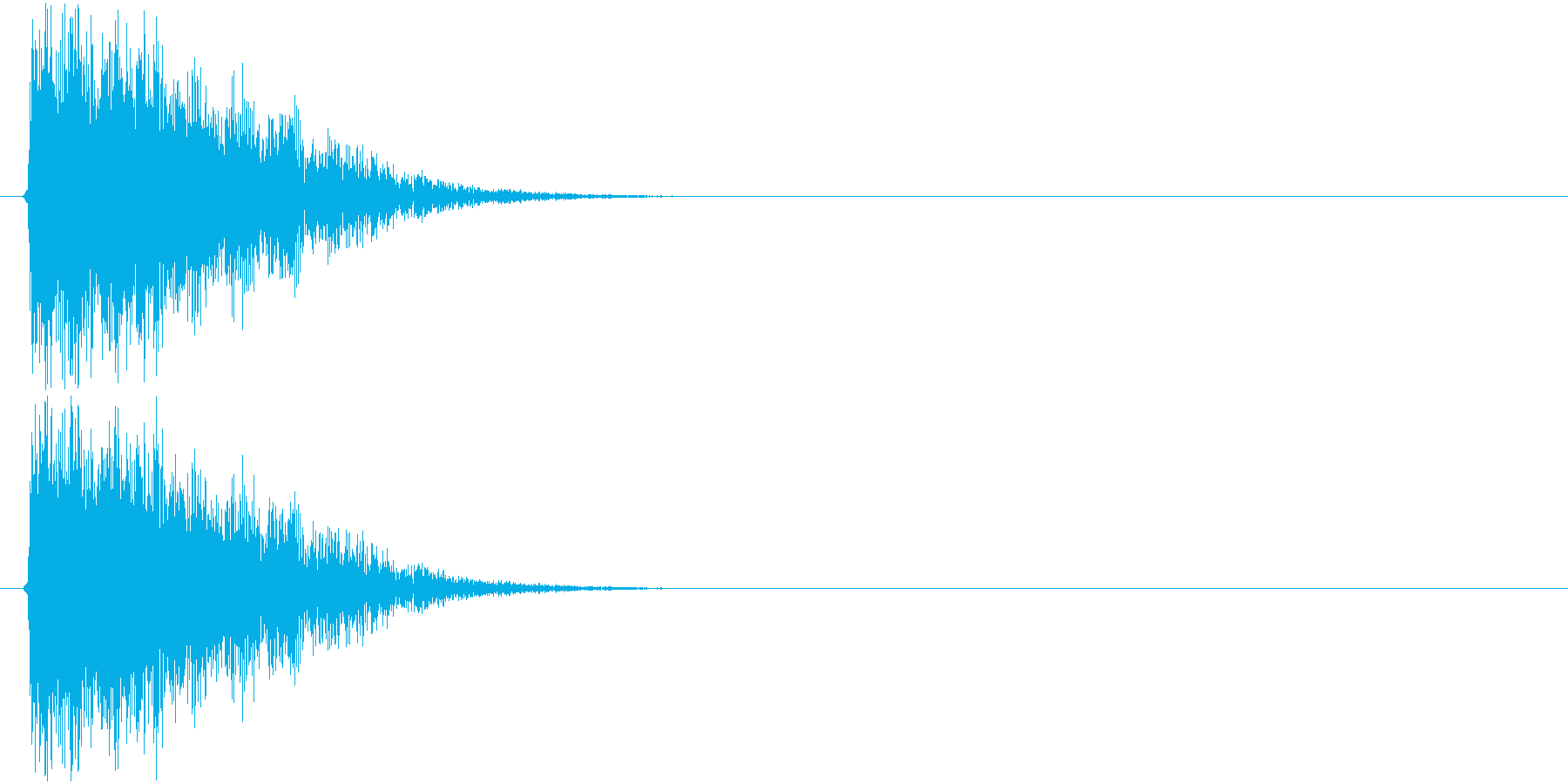 テューン↓(シューティング、レデュース)の再生済みの波形