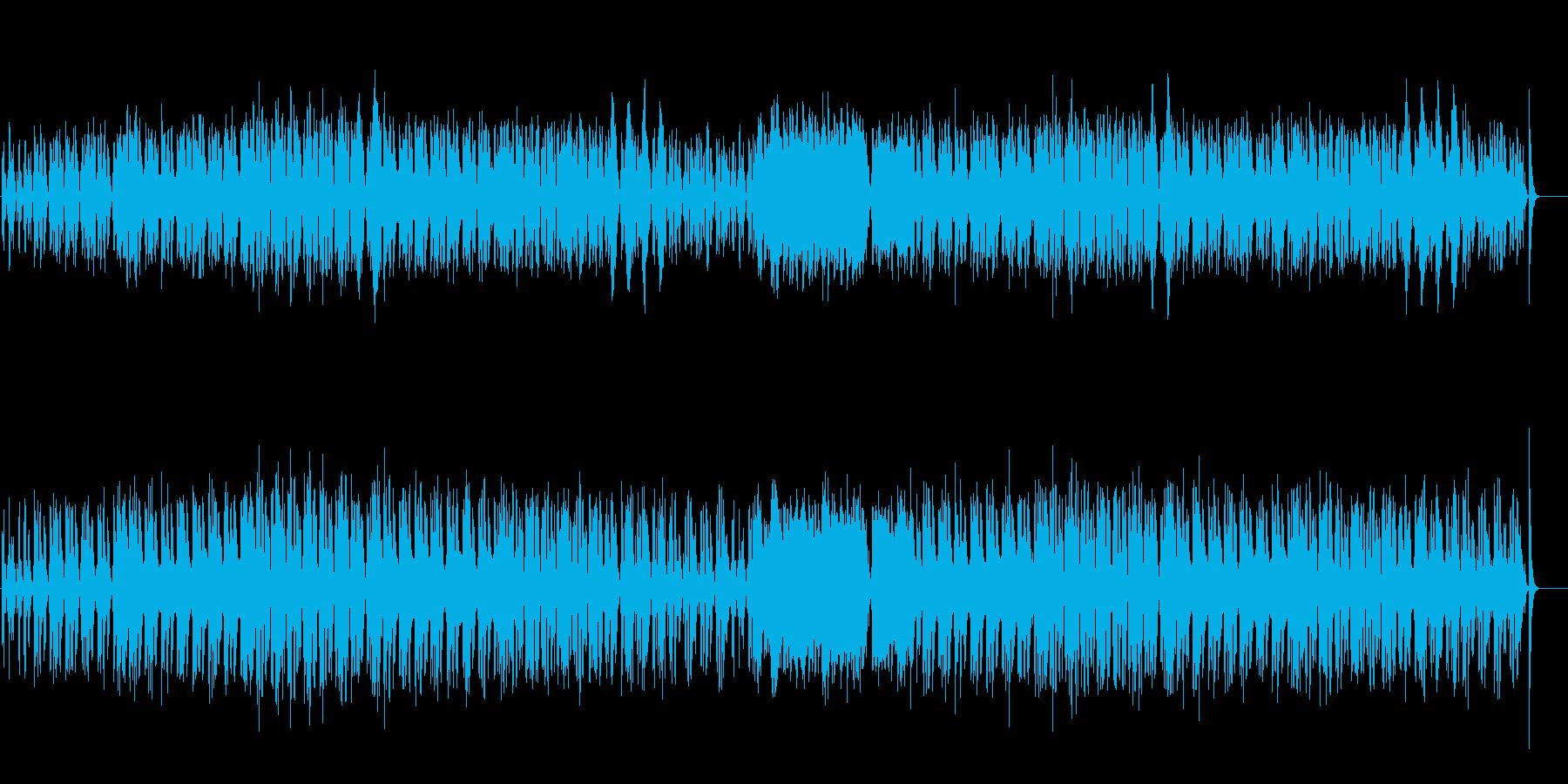 のどかでパーカッシヴなアフリカンBGMの再生済みの波形