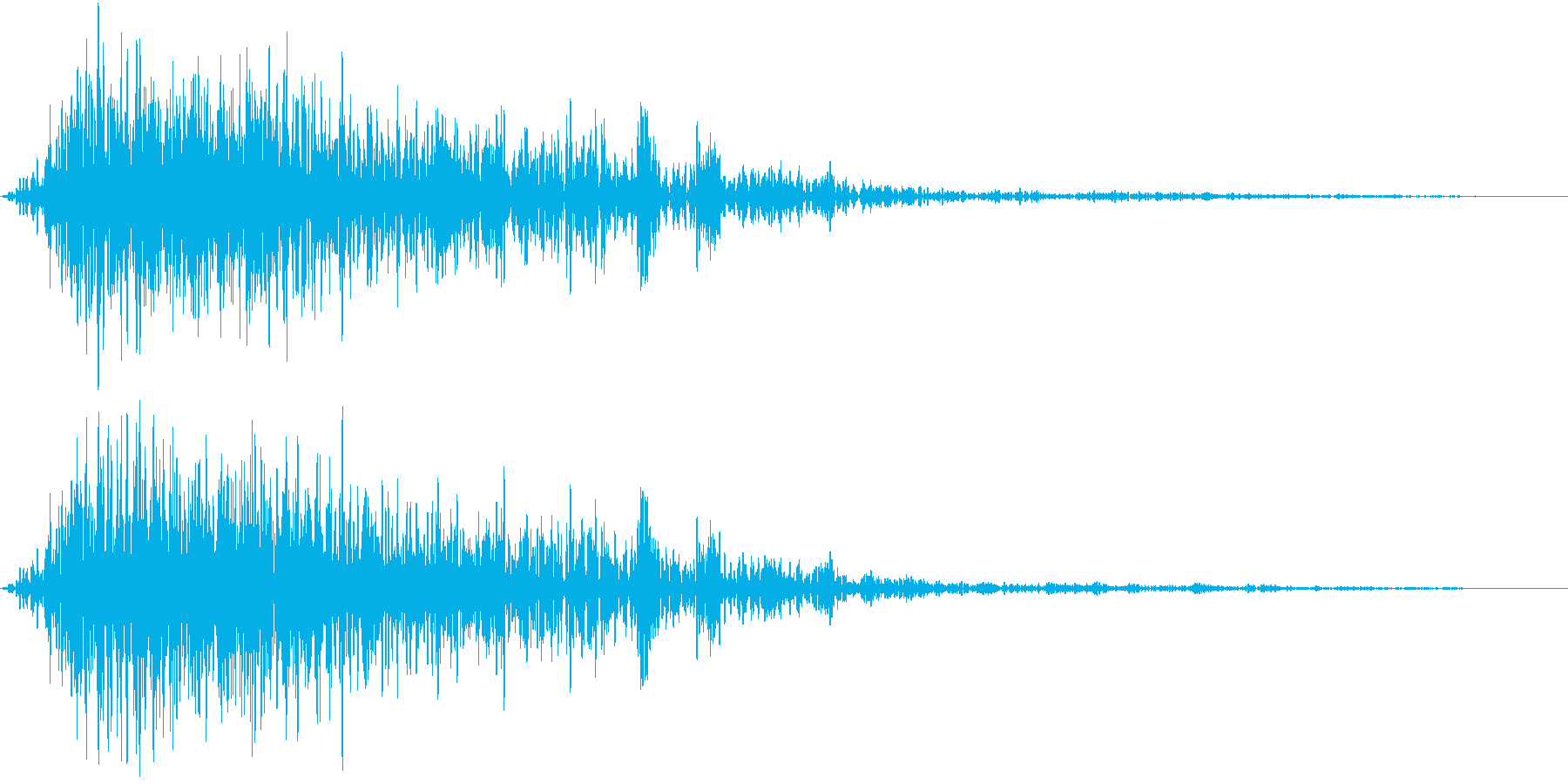 Animal ガオッと吠える猛獣の声の再生済みの波形