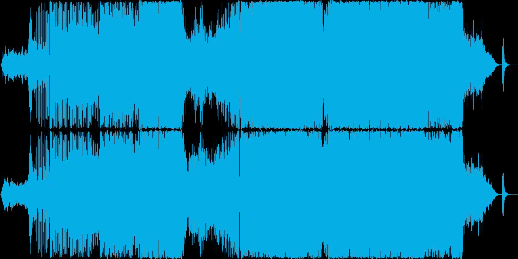 エレクトリックなサウンドのトランスの再生済みの波形
