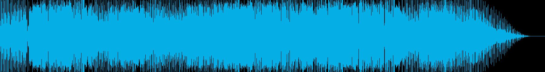 おしゃれでノリのいいEDM曲の再生済みの波形