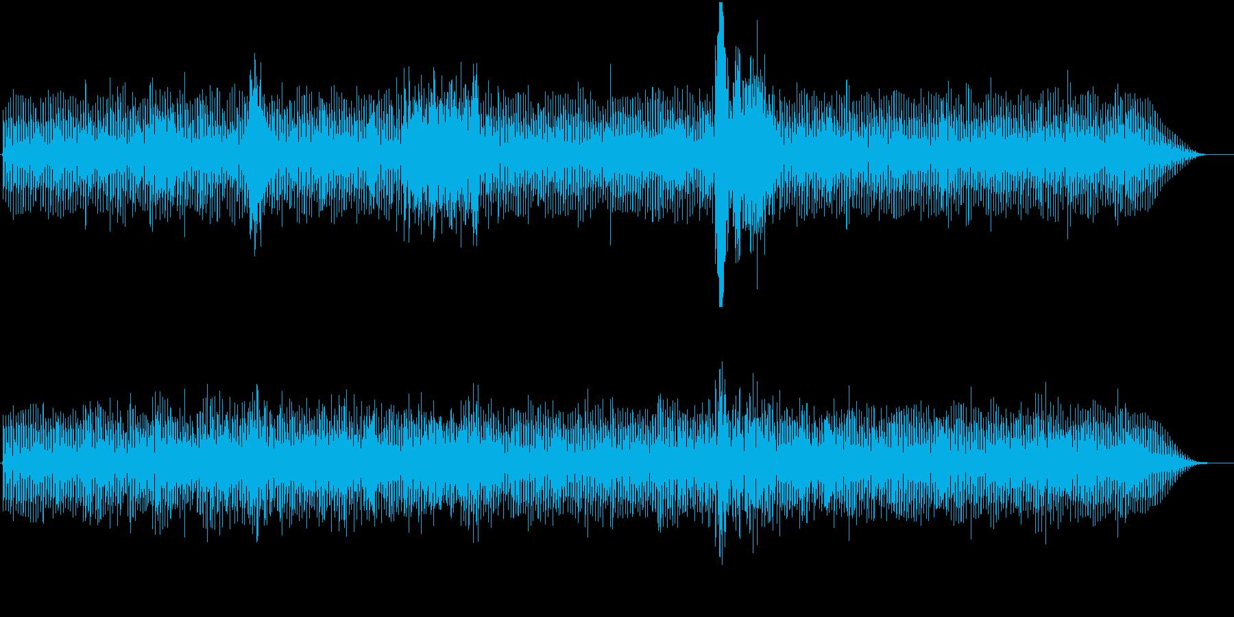 ハリウッド映画の緊迫シーンBGMの再生済みの波形